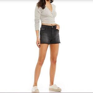 STS Blue Aubrey High-Rise Black distressed shorts